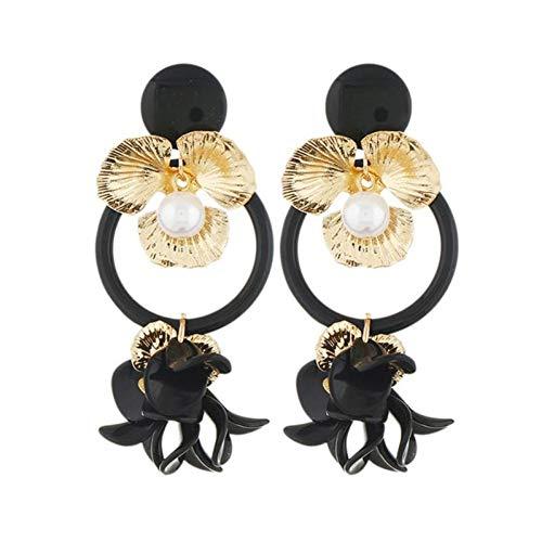 BLINGBRY lange oorbellen voor vrouwen hanger oorbellen sieraden modesieraden geschenken Bohemia Drop oorbellen zwart haak sieraden