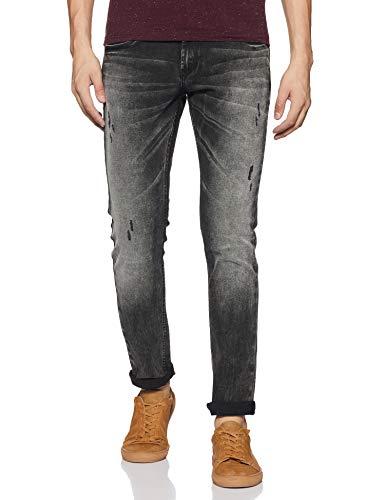 Spykar Men's Skinny Fit Jeans (MYNR-01AI-015_Carbon_Black_32)