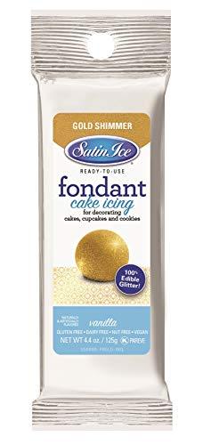 Satin Ice Gold Shimmer Fondant, Vanilla, 4.4 Ounces