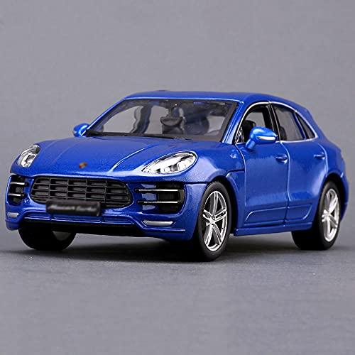 QHYZRV Coche de fundición a presión 1:24, escala azul, que se puede abrir, escala azul, coche todoterreno, coche de fundición a presión, coche extraíble, modelo de alta simulación, escena de coche, ap