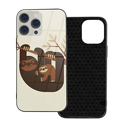 Cute Sloth iPhone 12, iPhone 12 Mini, iPhone 12 Pro, iPhone 12 Pro, iPhone 12 Pro Max, cristal templado, carcasa de teléfono antigolpes, antiarañazos