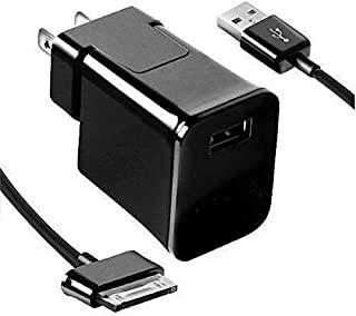 Samsung Galaxy tab 2 Charger,Home Wall Charger + USB Cable Made for Samsung Galaxy tab 2 10.1 9 8 7 inch Table (Black)