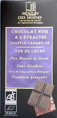 Chocolat Bio à l'épeautre caramélisé 74% de cacao