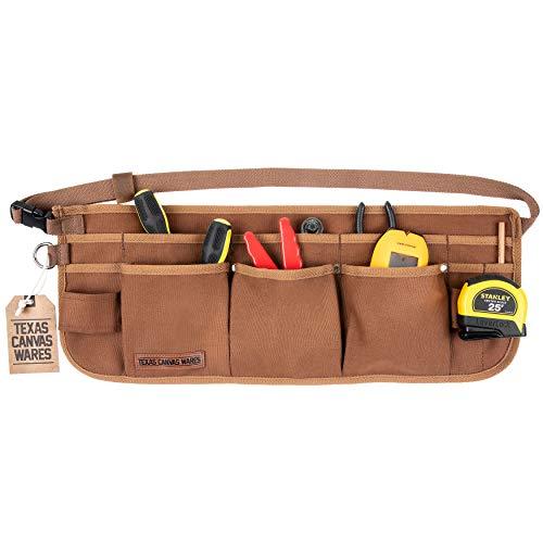 Delantal con 11 bolsillos para herramientas, para hombre, lona encerada, resistente, de Texas Canvas Wares