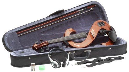 Stagg EVN 4/4VBR–Set de violín eléctrico con HD Phone/Softcase violinburst