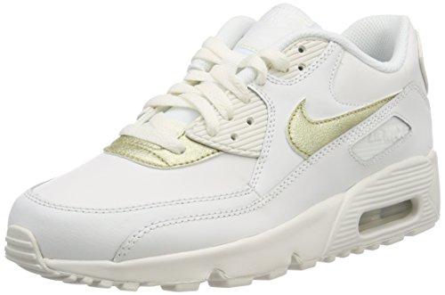 Nike Air Max 90 LTR GG, Scarpe da Trail Running Donna, Bianco (Summit White/Mtlc Gold Star 103), 37.5 EU