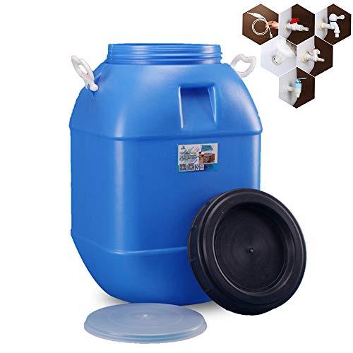 Foldable bucket Kunststoff-Wasserspeichertank im Freien, 50L Trinkwasserspeicherbehälter für Den Haushalt, Industrielles Chemisches Fass für Säure und Alkali, Notwasserbehälter Mit EIN-Aus-Ventil