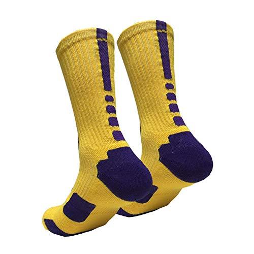 heling896 Männer Outdoor Sport Strümpfe Professionelle Compression Basketball Elite Sport Schutz Socke Verdickte Stoßdämpfende Strümpfe Warme Socken Zum Laufen