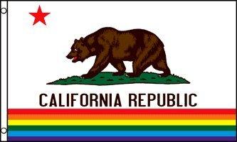 アメリカンフラッグ★カリフォルニアレインボー旗★3x5ft (90x150cm)California (Rainbow) Flag USA