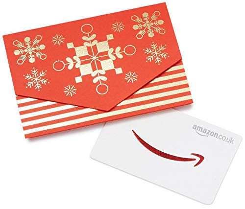 Amazon.co.uk Gift Card for Custom Amount in a Red and Gold Mini Envelop