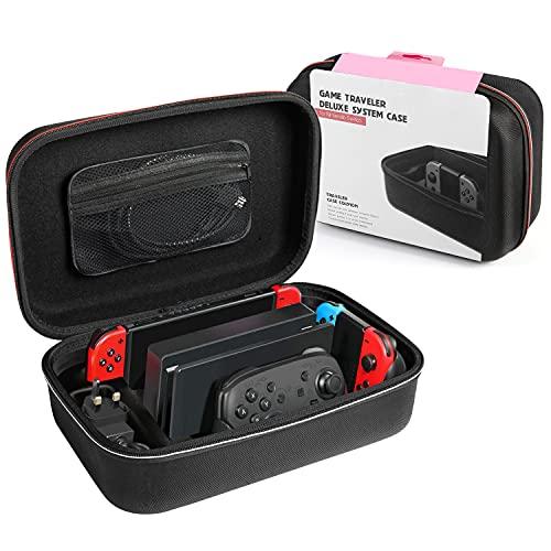 Funda para Nintendo Switch, Estuche de Transporte Rígido Protector de con Mayor...