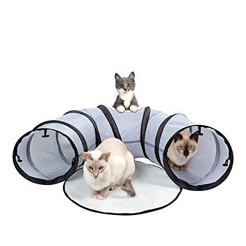 Katzentunnel & Bett – faltbar, tragbar für Innen- und Außenaktivitäten – leicht, langlebiges Haustierzubehör