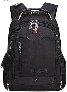 Swiss Army Men's Laptop Shoulder Unisex Bag - Black
