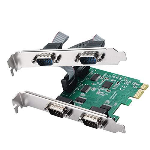 MZHOU 4 Port PCI-E Erweiterungskarte,PCI-E Zu RS232 Serielle Karte Konverter,18 Pin COM- Schnittstellenkarten/Adapter - FüR Windows 7/8/10 / Linux