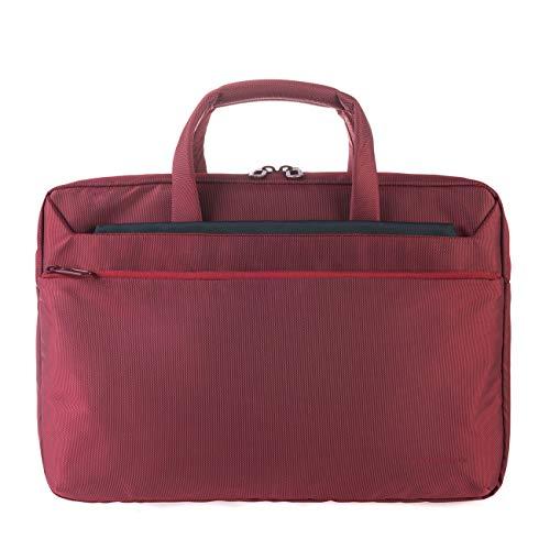 Tucano WorkOut3 SLIM Laptop-Tasche Schultertasche Aktentasche für MacBook Air/Pro 13 Zoll und Ultrabook, iPad, Tablet wasser- und schmutzabweisend mit Anti-Schock-System - Rot