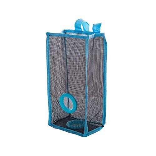 BESTOMZ Porta Sacchetti di plastica Porta Buste di plastica Porta Sacchetti Spazzatura da Appendere Porta Sacchetti Cucina (Blu)