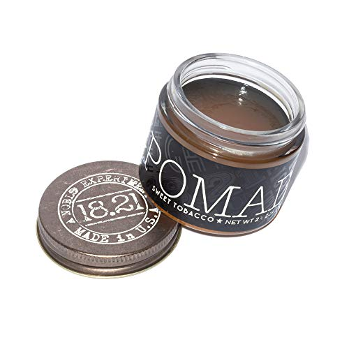 18.21 Man Made Hair Pomade for Men with High Shine Finish, Sweet Tobacco, 2 oz - Premium Non-Greasy...