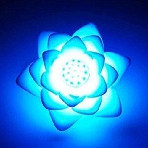 LYCOS3 Luz nocturna LED Lotus con 7 colores que cambian de color, alimentado por el sol, luz flotante de flor de loto, luz LED para piscina y estanque RGB de noche, para niños y adultos (RGB)