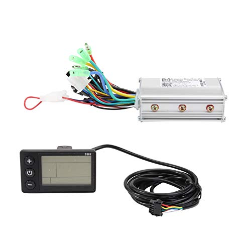 CLISPEED Electric DC Scooter Motor Kit Completo Motor Eléctrico Cepillado con Controlador de Velocidad Base 36V Brushless Controller with LCD for Scooter