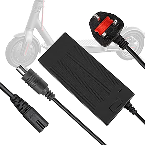42v 2a Scooter Charger, Electric Scooter Battery Charger Adapter for Xiaomi M365 Mobility Scooter Electric Charger for Xiaomi M365 Mijia and Ninebot Electric Scooter Moped ES1 / ES2 / 2S3 / ES4