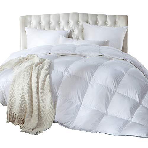 Luxurious King/California King Size Siberian Goose Down Comforter, Duvet Insert,...