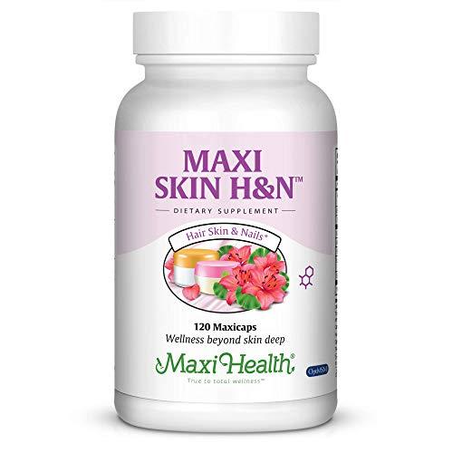 Maxi Health Skin H&N - Skin + Hair + Nail Formula - with Vitamin A & Biotin - 120 Capsules - Kosher