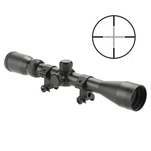 Pinty Pro 4-12X40 Mil-dot Tactical Rifle Scope Optics Optical Scope for Hunting with Aircraft-Grade Aluminum Alloy Tube, Waterproof Fog Proof
