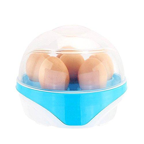 lzndeal Rapid Egg Cooker Steamer Elektrische Eierkocher Boiler 6 Egg Kapazität Removable Tray