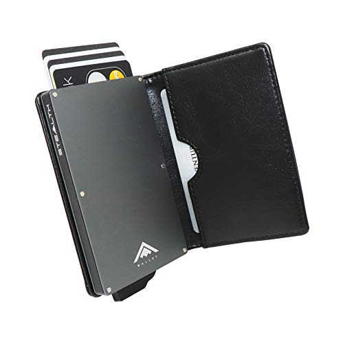 Stealth Wallet Minimalist Rfid Blocking Pop Up Credit Card And Cash Holder With Gift Box Slim And Lightweight Ejector Wallets With Contactless