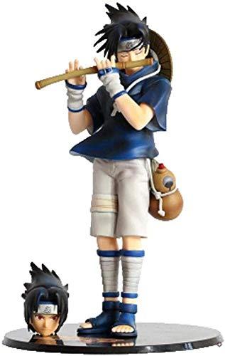 Gddg Naruto ACCIÓN ACCIÓN Sharingan Piper Sasuke Uchiha Figurine Modelo Animado Modelo de carácter Decoración de la Estatua 26 cm