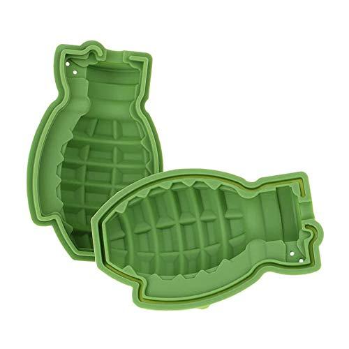 NHAO 3D Granate Form EIS-Würfel-Behälter [2 Packungen] Silikon-Granate Schokolade-Kuchen-Form, BPA frei, Eiswürfelformen Ice Cream Tabletts Form für Whiskey Cocktails Eiswürfel Pralinen