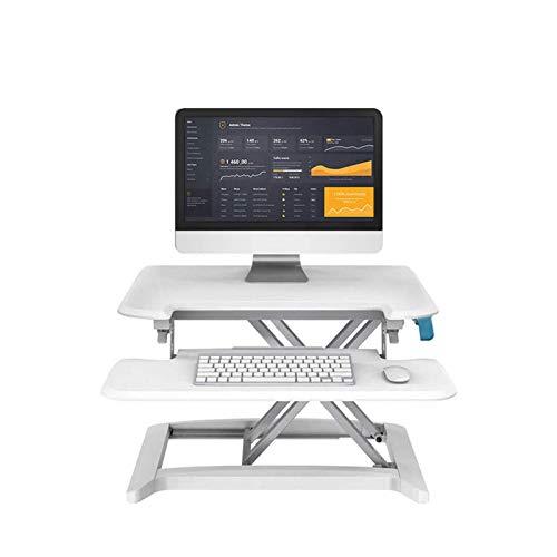 Equipo de estar Escritorio de pie ajustable Soporte para asiento Estación de trabajo Computadora de altura ajustable Escritorio para computadora portátil con bandeja de teclado extraíble para todas
