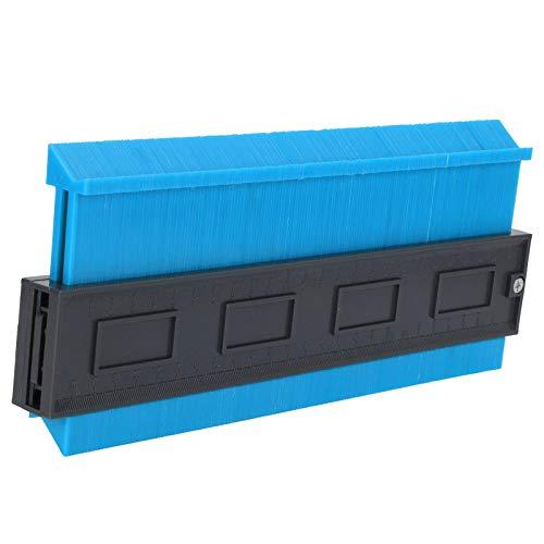 Herramienta de plantilla de contorno, fácil de usar 1 pieza con duplicador de contorno de bloqueo, alta resistencia (azul grande de 10 pulgadas)