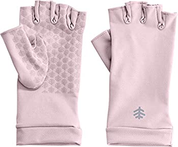 Coolibar UPF 50+ Men s Women s Ouray UV Fingerless Sun Gloves - Sun Protective  X-Small- Dusty Mauve