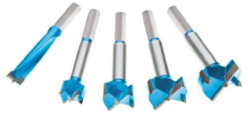 Roman Carbide DC1919 Carbide Forstner Bit, Set, 15mm - 35mm, 5-Piece