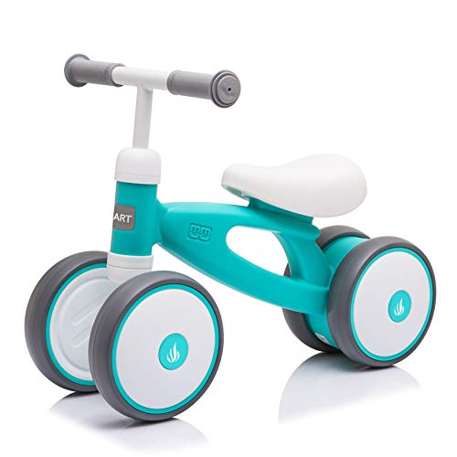 Baby Balance Bike 2-Year-Old Toy - for Birthday Gift 18-36 Month Girl and Boy Toys 7' Large Wheel Nezart(Mint)
