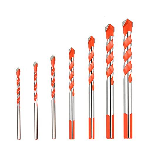 High Performance 7PCS Hard Alloy Drill Bits for Glass, Ceramic Tiles, Concrete, Metal, Etc for Concrete, Wood, Glass, (Color : 7PCS Set)