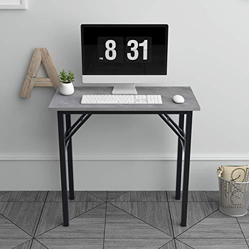 DlandHome Mesa Plegable Mesa de Ordenador Escritorio de Oficina 80x40cm Mesa de Estudio Puesto de Trabajo Mesas de Recepción Mesa de Formación,Negro