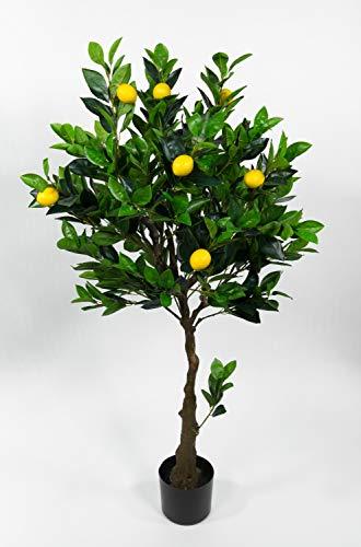 Seidenblumen Roß Zitronenbaum 120cm LA künstlicher Baum Kunstbaum Dekobaum Kunstpflanzen