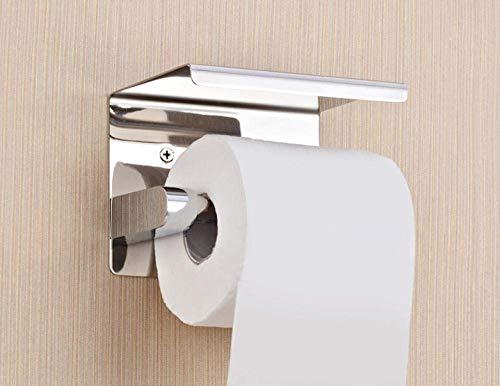 ZJN-JN Tissue Holder for Bathroom Stainless Steel Semi-Closed Toilet Paper Holder Roll Paper Holder with Cover Paper Rack Roll Holder Toilet Accessories