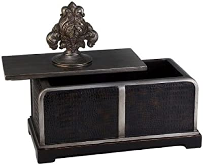 ORE International K-4235JX Sobek Decorative Box, 11-Inch, Dark Espresso