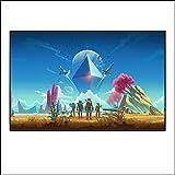 Posters No Man'S Sky Game Art Canvas Painting Posters e Impresiones Cuadros de Pared para la decoración del Dormitorio de la Sala de Estar del hogar-50x70cm Sin Marco