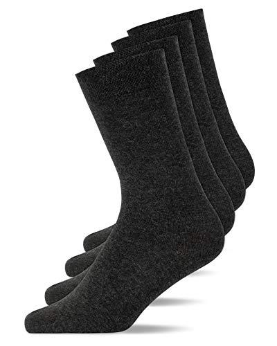 Snocks Socken Herren Grau Größe 47-50 4x Paar Graue Socken Herren 47-50 Grau Socken Socken Herrensocken 47-50 Business Socken