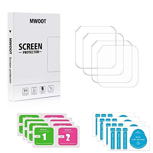MWOOT Panzerglas Kompatibel mit Hero 5 Session/Hero 4 Session Schutzfolie (4 Stück), Displayschutz Schutzglas 9H Härte Anti-Fingerprint