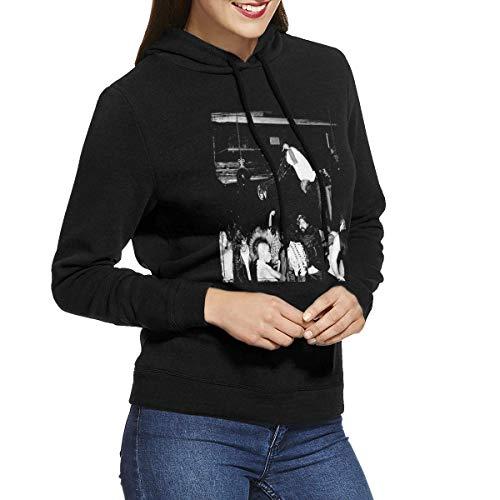 Kmehsv Mujer Sudadera con Capucha, Gentle Tees Playboi Carti Die Lit Women's No Pocket Hooded Sweatshirt Black