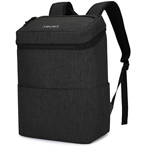 TOURIT borsa frigo 22 l impermeabile leggero per trasportare alimenti zaino per campeggio, escursioni, Work, Travel, 24 lattine, Nero