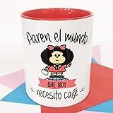 La Mente es Maravillosa - Taza con Frase y dibujo. Regalo original y gracioso (Paren el mundo que hoy necesito un café) Taza Mafald