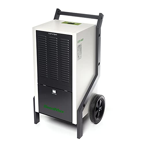 125 Pints Grower Mobile Steel Commercial Industrial Dehumidifiers for Greenhouse/Basement/Crawl Space, Auto Defrosting, cETL