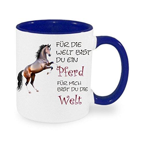 Creativ Deluxe Für die Welt bist du EIN Pferd für Mich bist du die Welt Kaffeetasse mit Motiv, Bedruckte Tasse mit Sprüchen oder Bildern - auch individuelle Gestaltung nach Kundenwunsch