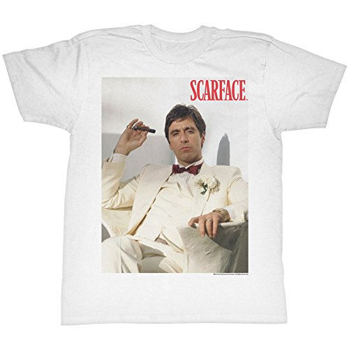 Scarface Chillin Erwachsene Weiß T-Shirt (Medium)